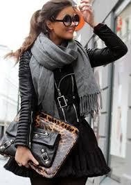 PUT A LONG SCARF OVER A LEATHER JACKET
