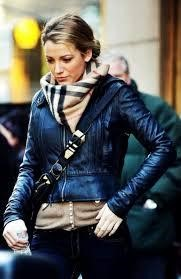 SCARF OVER A LEATHER JACKET2