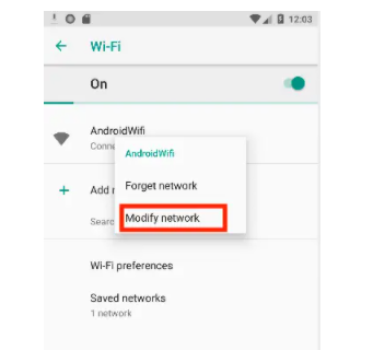 modify the network