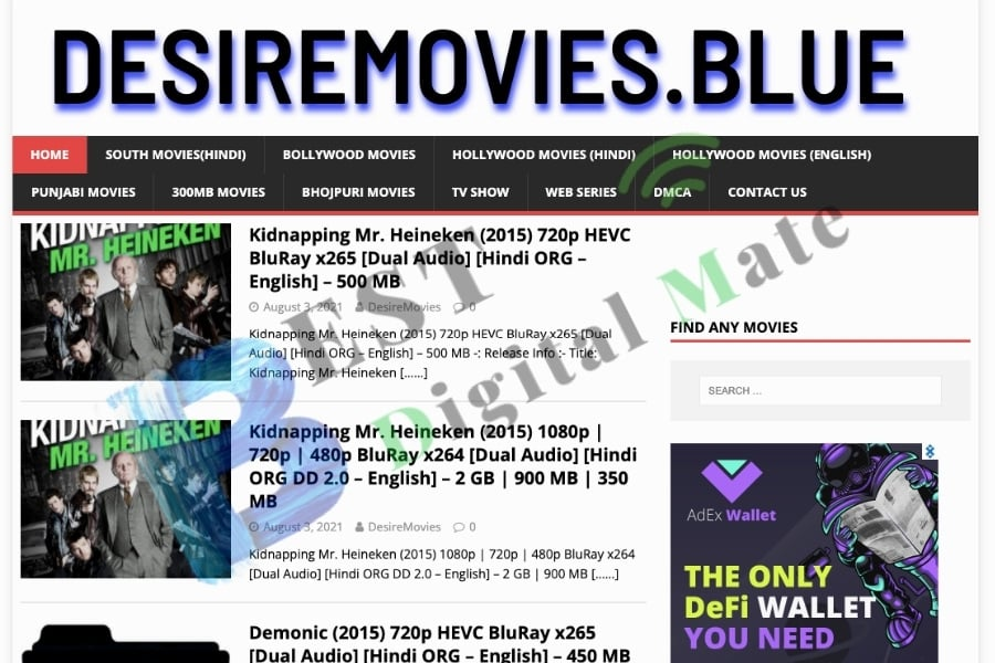 How to download Movies on Desiremovies Website